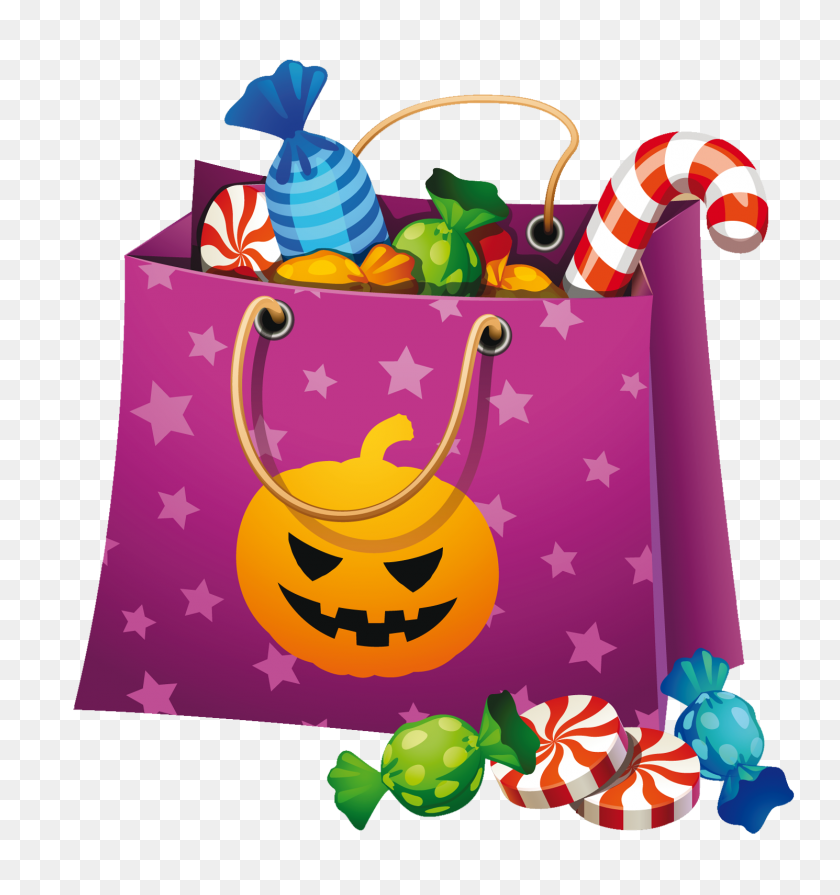 Halloween Candy Clip Art - Halloween Clipart Black And White