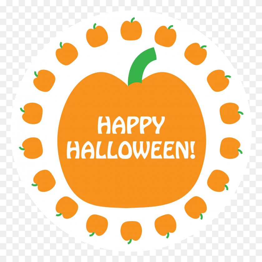 Halloween Napkin Knot - Pumpkin Border Clipart