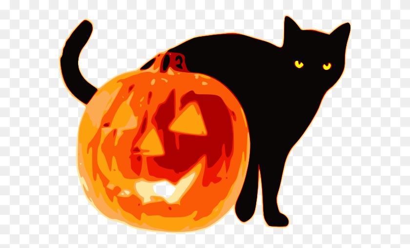 Halloween Pumpkin Clip Art - Animal Ears Clipart