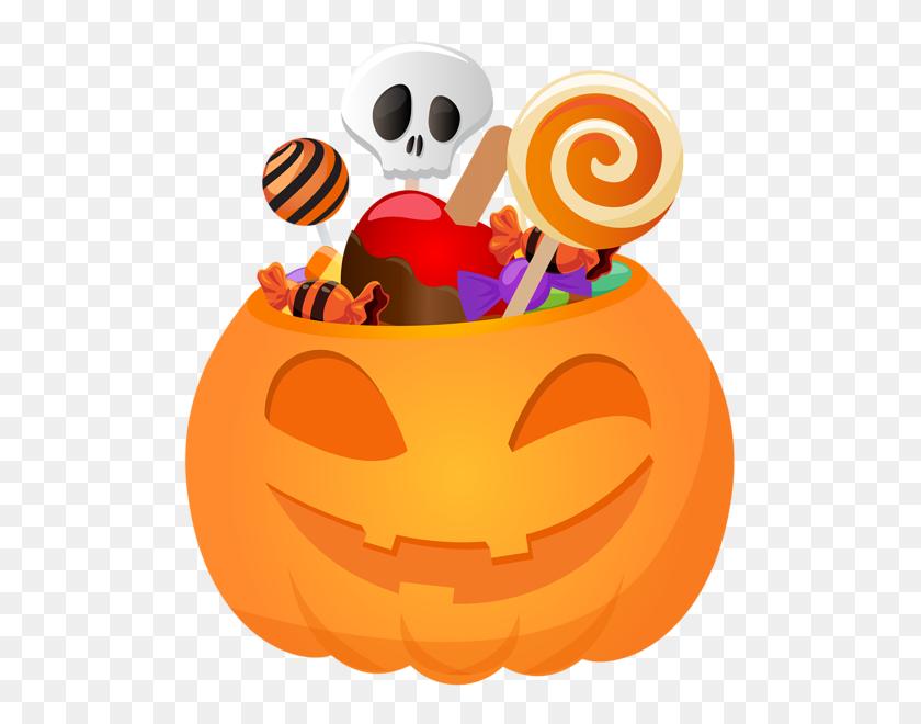 Halloween Pumpkin With Candy Png Clip Art Gallery - Pumpkin Border Clipart