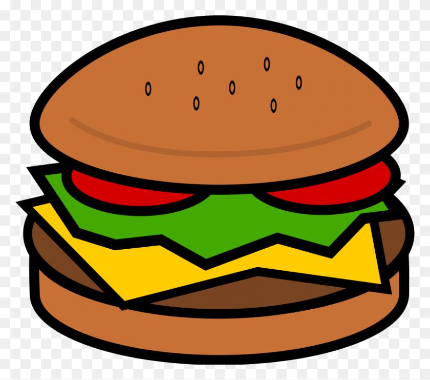 Hamburgers Clipart Unhealthy Food - Unhealthy Food Clipart