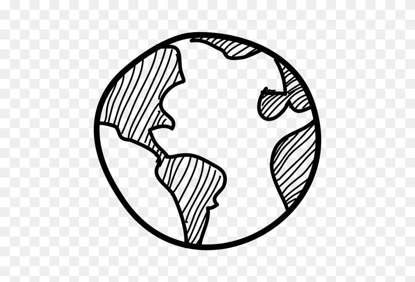 Hand Drawn Globe Icon - Globe Icon PNG