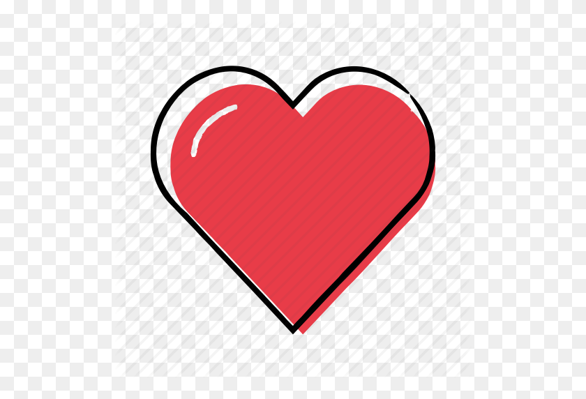Hand Drawn, Heart, Like, Love Icon - Hand Drawn Heart PNG
