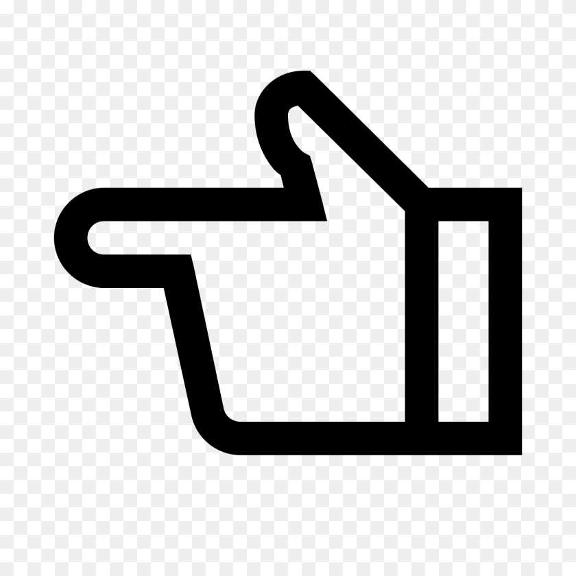 Hand Left Icon - Mano PNG