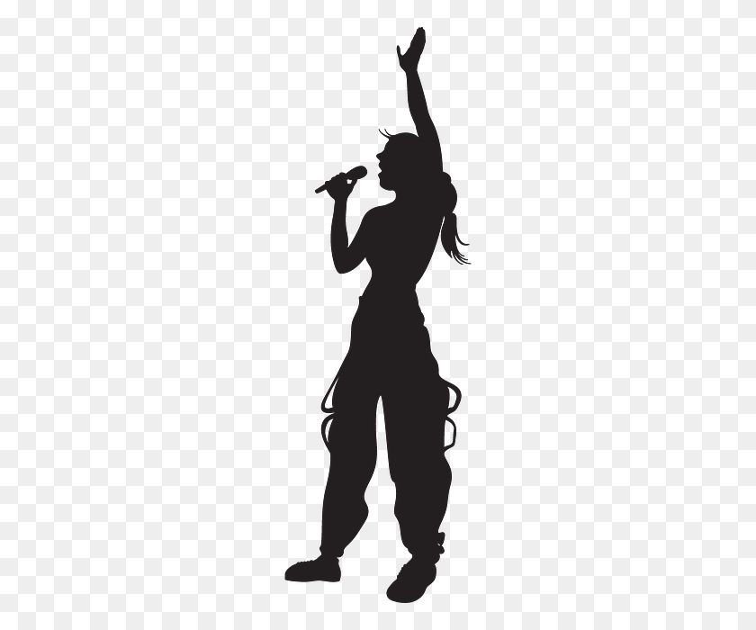 Hand, Singing, Silhouette, Girl, Microphone Silhouettes - Hand Silhouette PNG