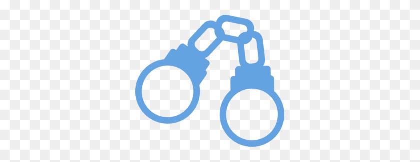 Handcuffs Light Blue Cartoon Closed Clip Art - Handcuffs Clipart