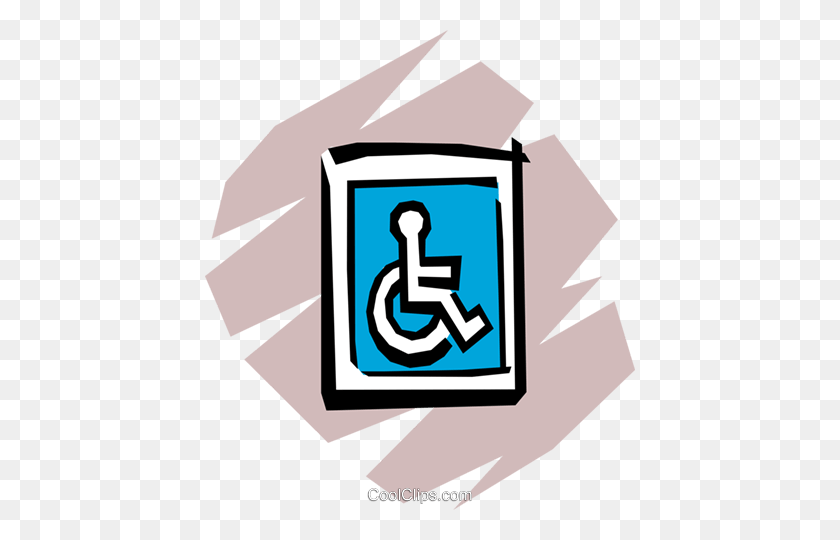 Handicap Parking Royalty Free Vector Clip Art Illustration - Handicap Clipart