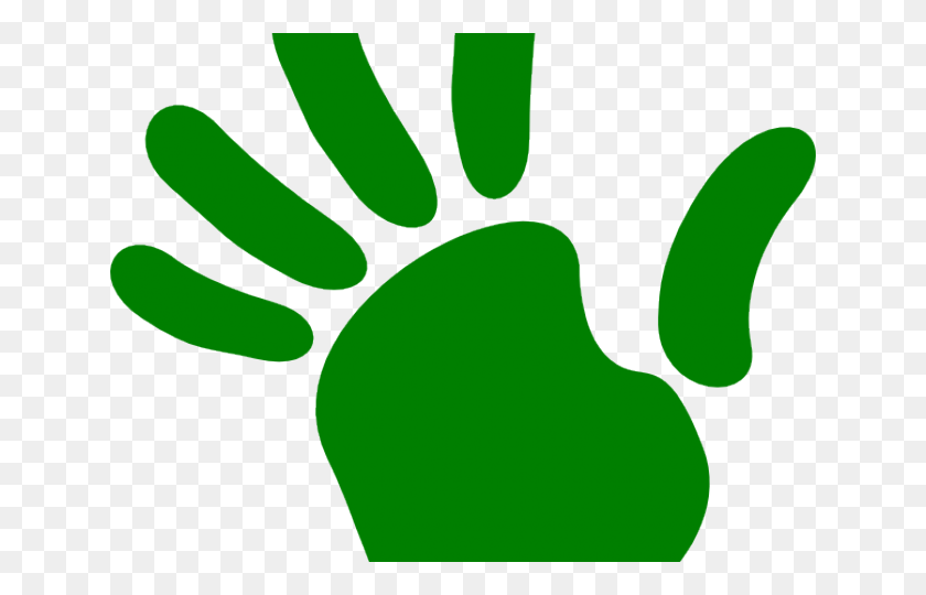 Handprint Clipart Right Hand Man - Baby Handprint Clipart