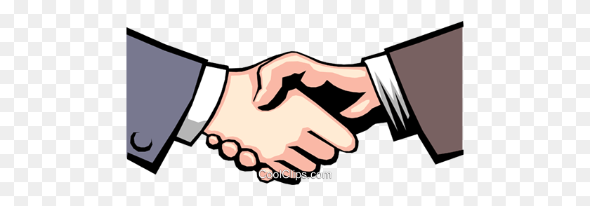 Hands Shaking Royalty Free Vector Clip Art Illustration - Shaking Hands PNG