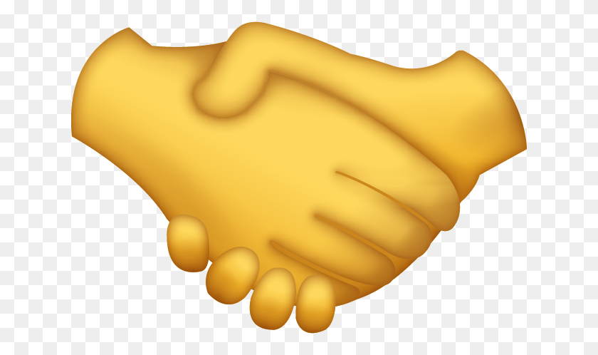 Handshake Emoji - Shaking Hands PNG