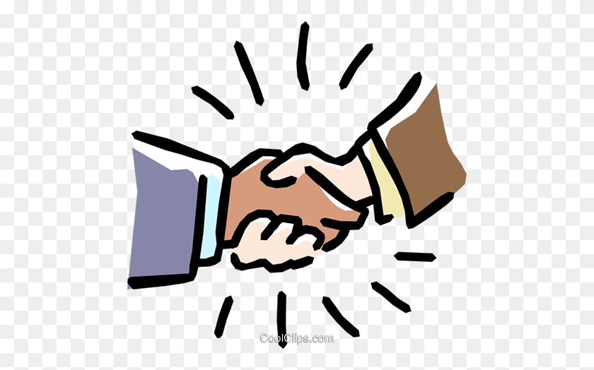 Handshake Royalty Free Vector Clip Art Illustration - Shake Hands Clipart