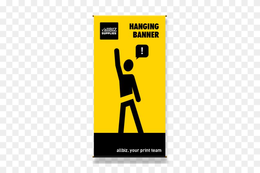500x500 Hanging Banners Allbiz Supplies - Hanging Banner PNG