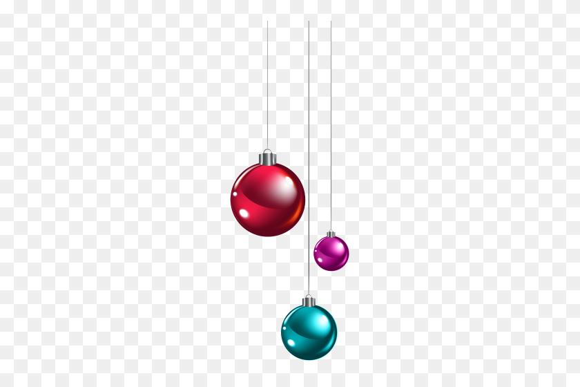 182x500 Hanging Christmas Balls Png Clipart - Christmas Balls Clipart