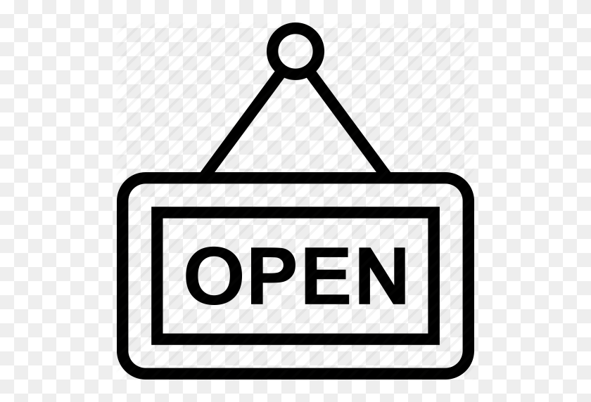 Hanging Sign, Information Sign, Open Shop, Open Signboard, Shop - Open Sign Clip Art