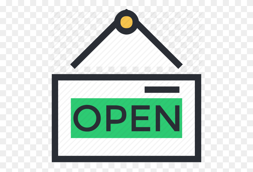 Hanging Sign, Information Sign, Open Shop, Open Signboard, Shop - Hanging Sign PNG
