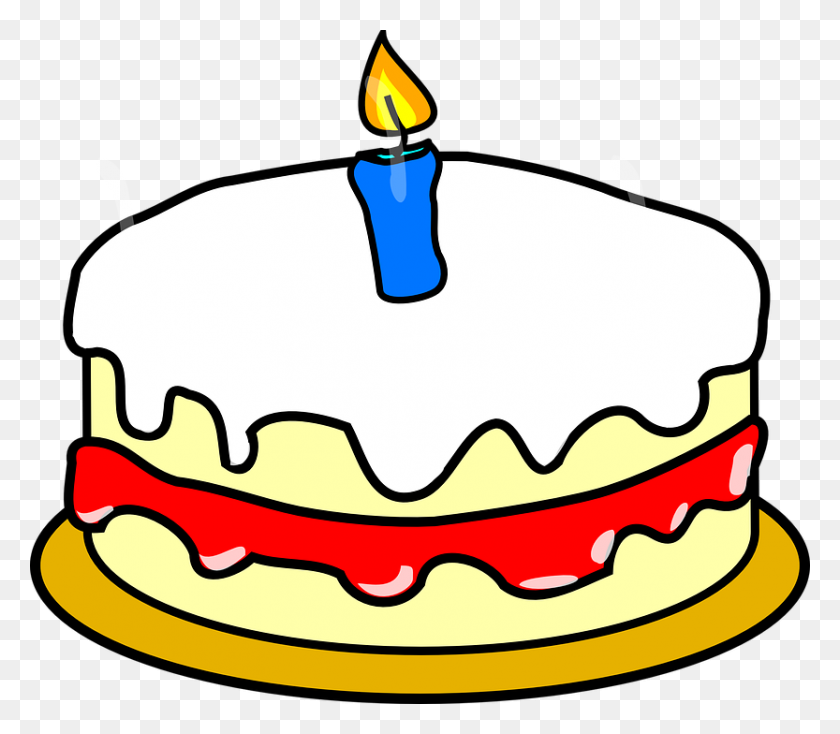 Happy Birthday Cake Clipart Desktop Backgrounds - No Food Clipart