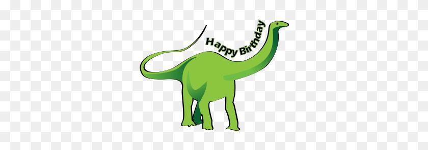 Happy Birthday Dinosaur - Dinosaur Birthday Clipart