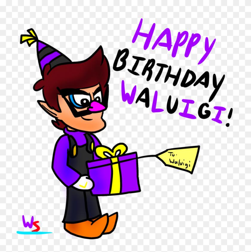 892x896 Happy Birthday Waluigi