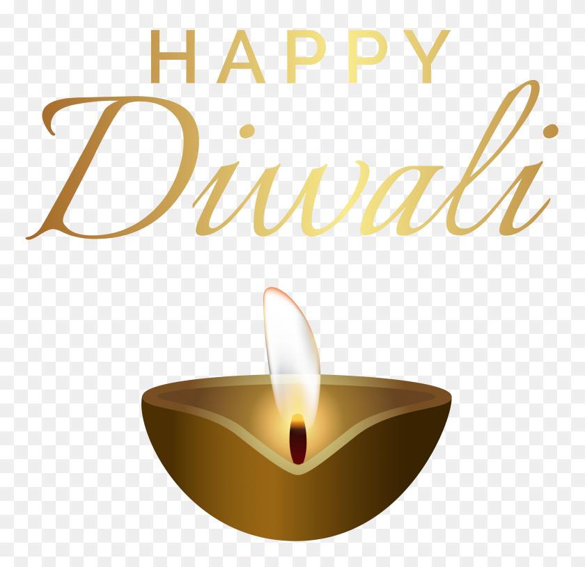 Happy Diwali Candle Png Clip Art - Diwali Clipart