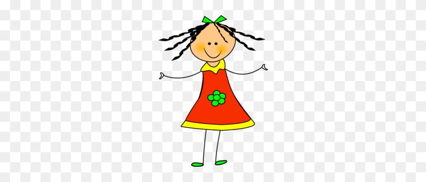 216x299 Happy Girl Clip Art - Free Clipart Girl