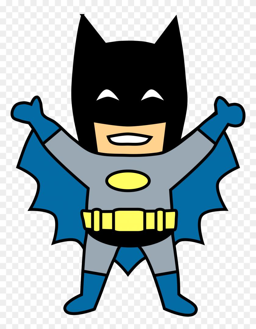 Happy Mini Batman Cartoon Clip Art Transparent - Robin Superhero Clipart