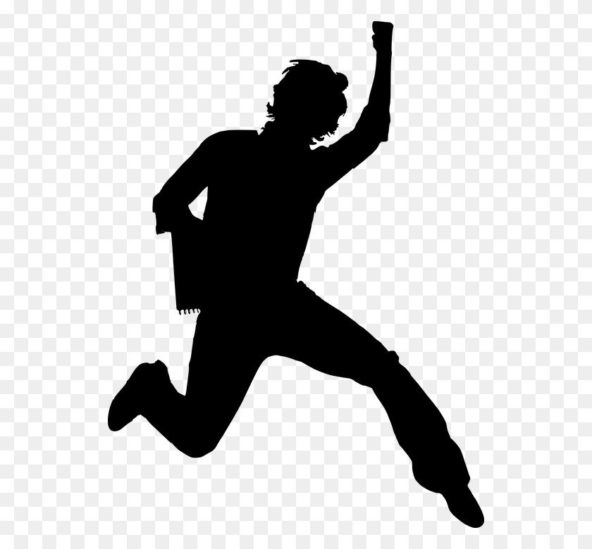 Happy Person Free Vector Graphic Boy Guy Happy Jump Male Man Image - Person Clipart Black And White