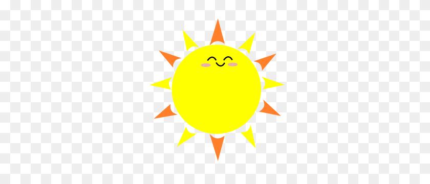 Happy Sun - Ray Of Sunshine Clipart