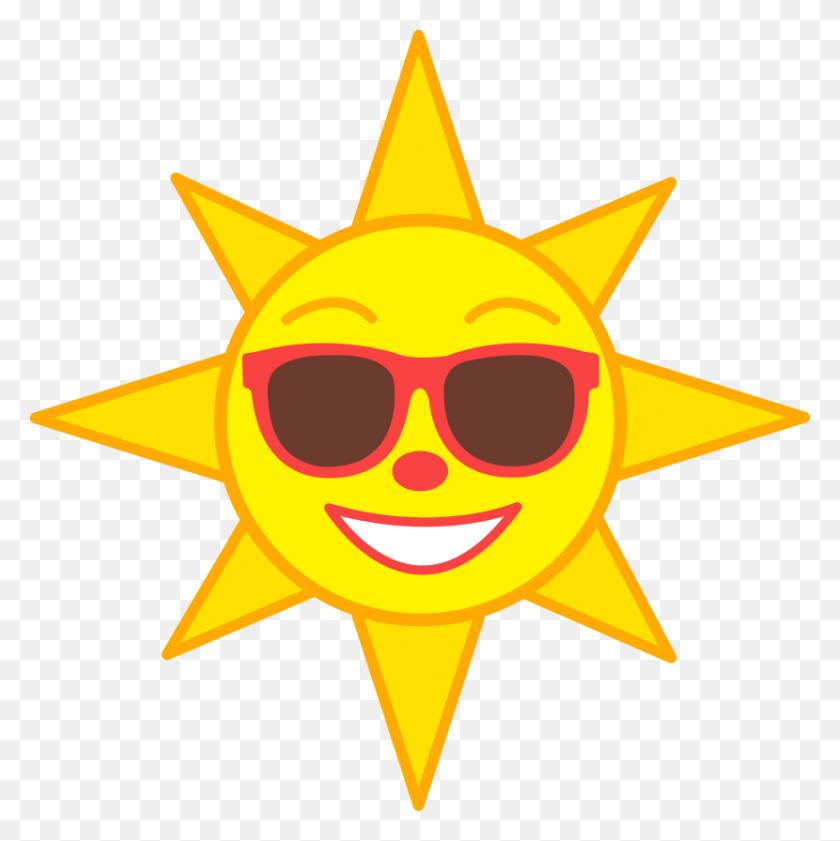 Happy Sun Clipart - Sun Cartoon PNG