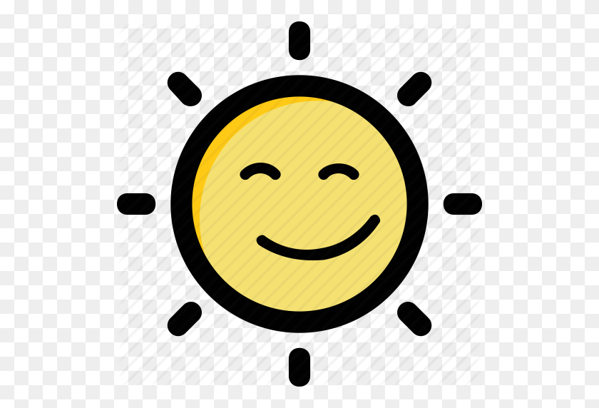 512x512 Happy Sun, Holiday, Smiling Sun, Sun Face, Sunlight Icon - Happy Sun PNG