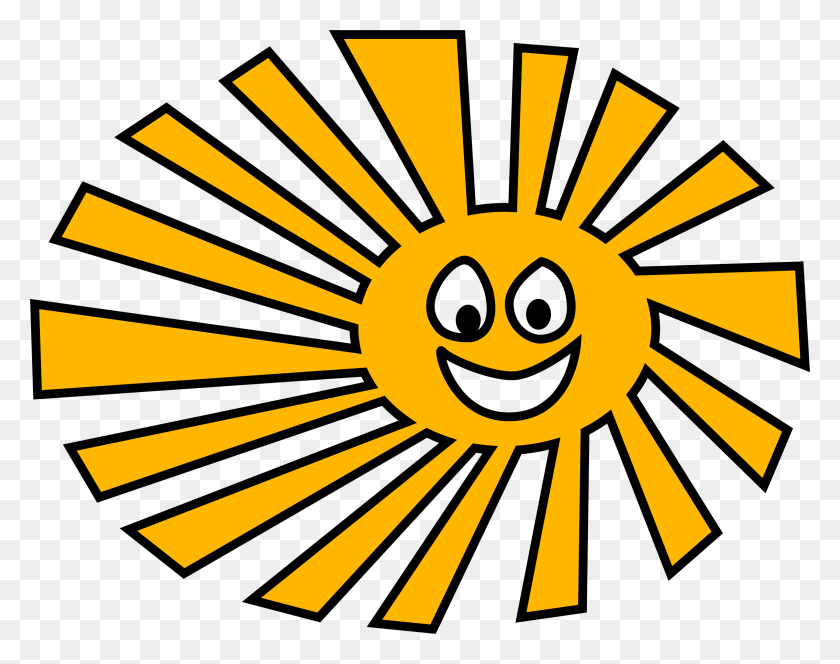 Happy Sun Vector Clipart Image - Happy Sun PNG