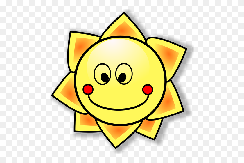 Happy Sun Vector Image - Happy Sun PNG