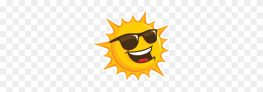 Happy Sun With Sunglasses Sticker - Happy Sun PNG