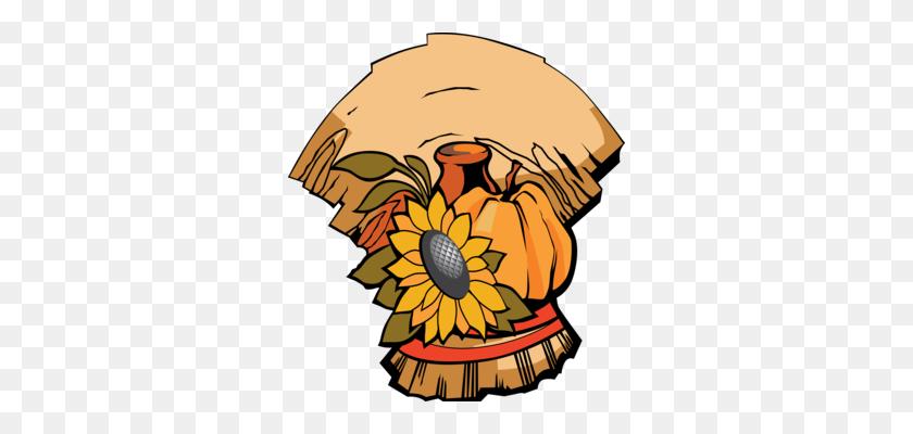 310x340 Happy Thanksgiving Day! Harvest Festival Logo - Thanksgiving Banner Clipart