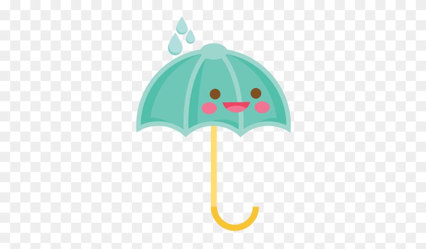 Happy Umbrella Scrapbook Cute Clipart - PNG Cute