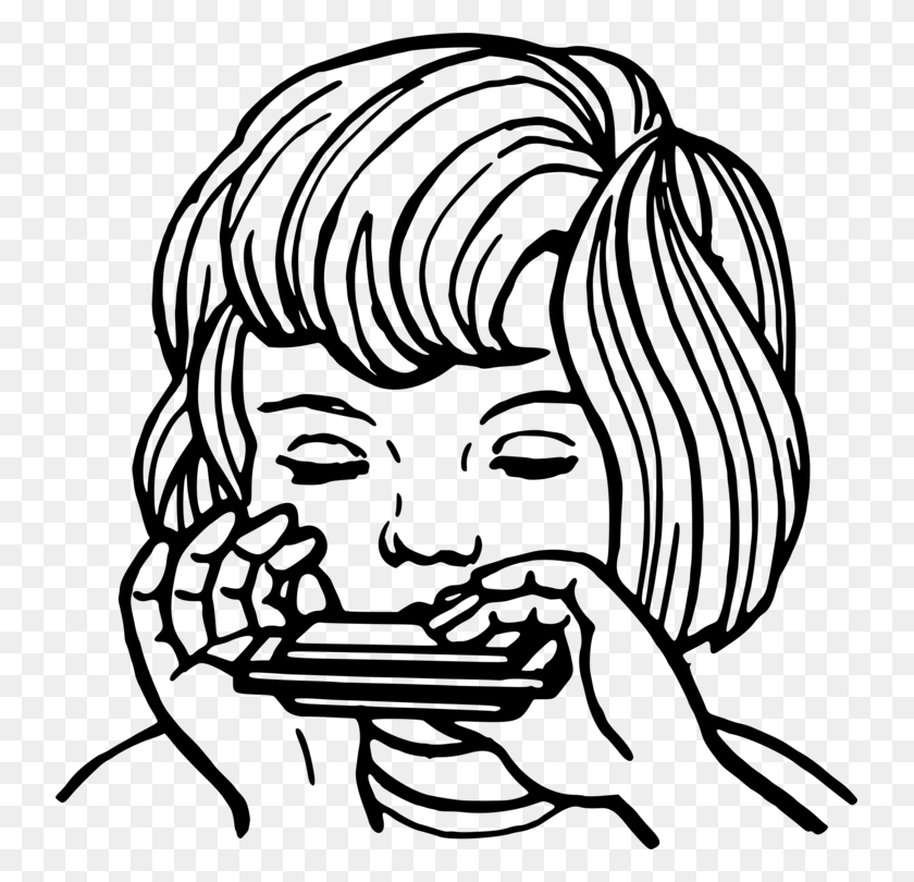 Harmonica Computer Icons Drawing Music Black And White Free - Marimba Clipart