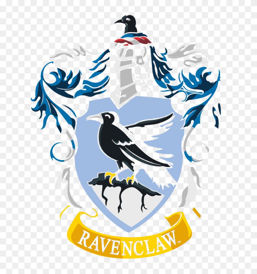 Harry Potter Ravenclaw Crest Men's V Neck T Shirt - Ravenclaw Crest PNG