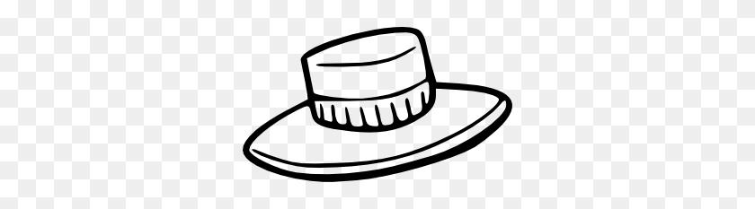 Hat Outline Clip Art - Scarecrow Hat Clipart