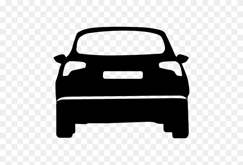 Hatchback Rear View Silhouette - Car Silhouette PNG