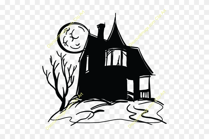 Haunted Clipart Haunted Castle - Castle Clipart Black And White