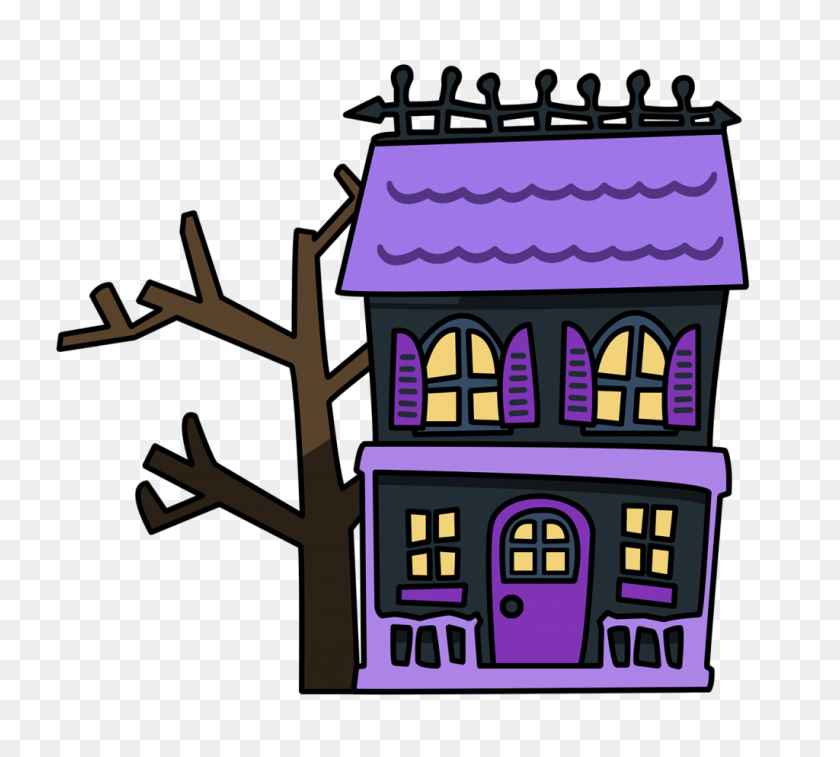 Haunted House Clipart Creepy Old House - Old House Clipart