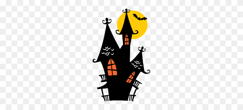 Haunted House Clipart Halloween - Haunted Castle Clipart