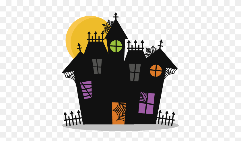 Haunted House Cutting Bat Halloween Cute - Haunted House PNG