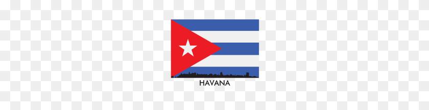 Havana Cuba Skyline Cuban Flag - Cuban Flag PNG