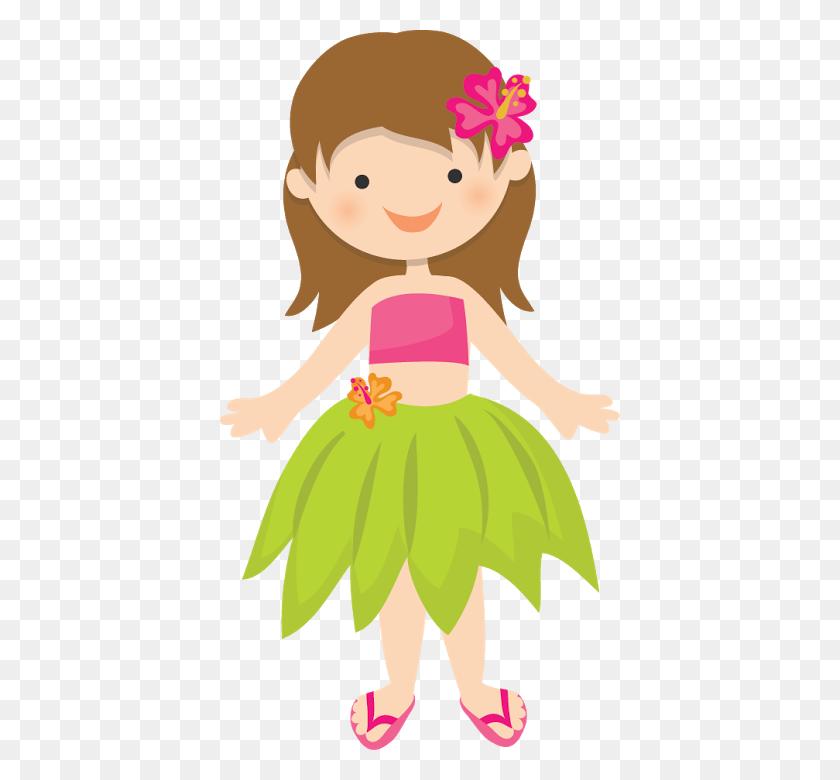 Hawaiian Aloha Tropical Hawaiian Beach Bay - Hawaiian Girl Clipart