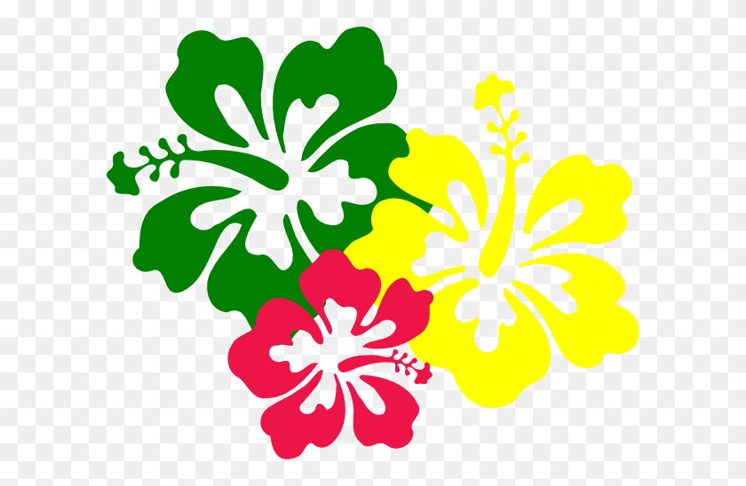 600x488 Hawaiian Flower Clip Art Hibiscus Flowers Clip Art - Lotus Flower Images Clipart
