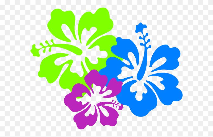 Hawaiian Flower Clip Art Hibiscus Flowers Clip Art Row Of Flowers