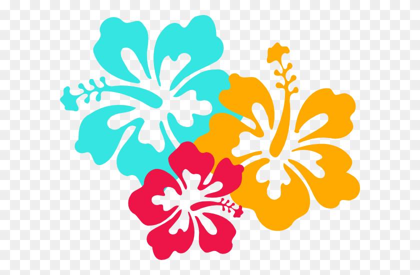 Hawaiian Flower Clip Art Pink And Yellow Hibiscus Free Jungle
