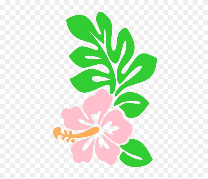 452x663 Hawaiian Flower Clip Art Tropical Plants Clip Art Vector Clip - Tropical Plants PNG