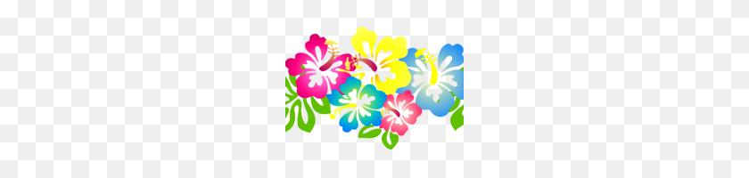Hawaiian Flower Clipart Hawaiian Flower Clip Art Hibiscus Lei Clip - Hawaiian Lei Clipart