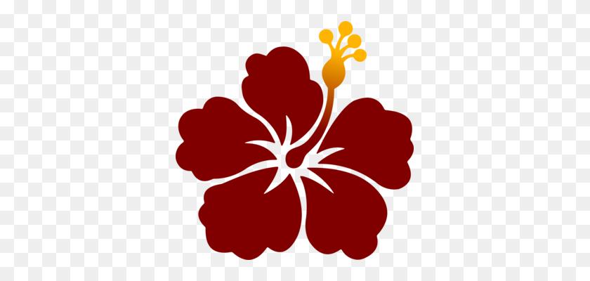 Hawaiian Hibiscus Flower Shoeblackplant Black And White Free - Hibiscus Flower Clipart Black And White